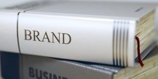 brand Título del libro en la espina dorsal 3d foto de archivo libre de regalías