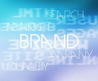 Brand Tag Cloud Royalty Free Stock Images