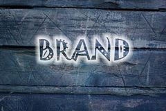 Brand text on background Stock Photography