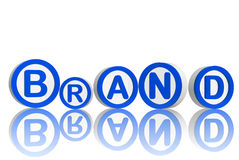 Brand in blue circles Royalty Free Stock Photos