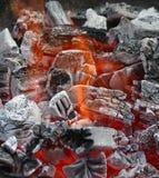 Brand till och med kolen royaltyfria bilder