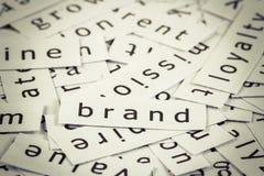 Brand topic royalty free stock photos