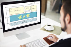 Brand Trademark Marketing Website Plan UI Concept royalty free stock images