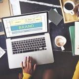 Brand Trademark Marketing Website Plan UI Concept royalty free stock image