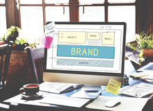 Brand Trademark Marketing Website Plan UI Concept stock photography