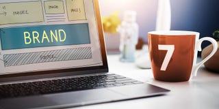Brand Trademark Marketing Website Plan UI Concept royalty free stock photos