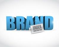 Brand under construction sign illustration. Design over white stock illustration