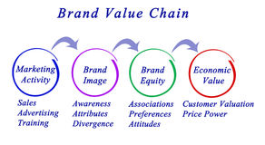 Brand Value Chain. Diagram of Brand Value Chain vector illustration