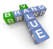 Brand value crossword Stock Photography