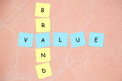 Brand value crossword Stock Images