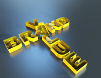 Brand value 3d word concept Stock Images