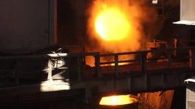 Brand van de menings de metallurgische installatie stock footage