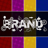 Brand Various Symbols Colorful Background Royalty Free Stock Photography