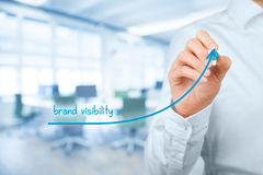 Brand visibility Royalty Free Stock Photo