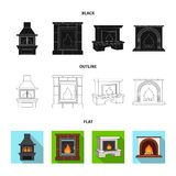Brand, warmte en comfort r vector illustratie