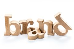 Brand Wood Word Royalty Free Stock Images