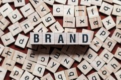 BRAND word on building block royalty free stock images