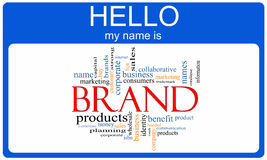 Brand Word Cloud Nametag Concept Royalty Free Stock Photography