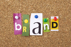 Brand Word Concept Background Stock Photos
