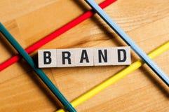 Brand word concept stock photo