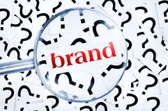 Brand word Stock Photos