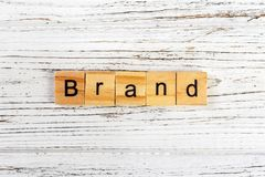 BRAND word made with wooden blocks concept royalty free stock image