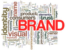Brand word tags royalty free stock photo