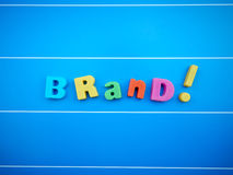 Brand word text Stock Photography