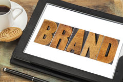 Brand word in wood type Royalty Free Stock Image