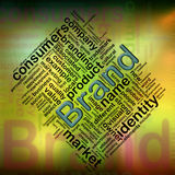 Brand wordcloud. Illustration of wordcloud related to word 'brand Royalty Free Stock Images