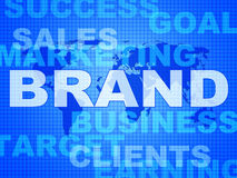 Brand Words Shows Company Identity And Business Royalty Free Stock Photos
