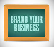 Brand your business illustration design Royalty Free Stock Photo
