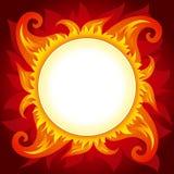 Brand of zon vectorachtergrond vector illustratie