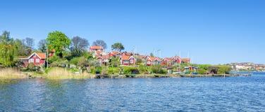 Brandaholm peninsula panorama Royalty Free Stock Photography