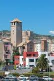 Brandales塔和市 意大利savona 免版税库存照片
