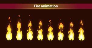 Brandanimatie sprites vector illustratie
