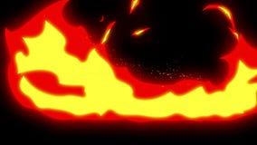Brandanimering Manga och komisk stil Tecknad film?glasanimering stock illustrationer