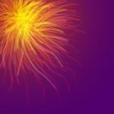 Brandarbeten brast i himlen på natten royaltyfri illustrationer