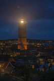 The Brandaris lighthouse on the island of Terschelling in Netherlands at night Royalty Free Stock Images