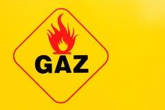 Brandbaar teken en gas royalty-vrije stock afbeelding