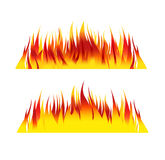 Brandbakgrund flammar illustration 1 Royaltyfri Illustrationer