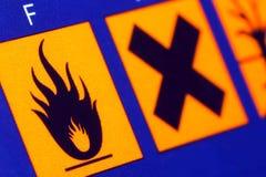 Brandbare Beware. stock foto's