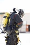 Brandbekämpningarbeten arkivfoto