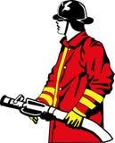 brandbestrijder Stock Illustratie