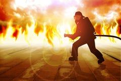 brandbestrijder vector illustratie