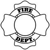 Brandbestrijder Insignia Illustration stock illustratie