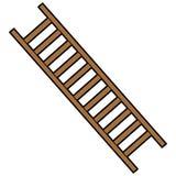 Brandbestrijder Ladder Stock Afbeelding