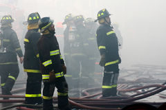 Brandbestrijders Stock Foto