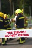 Brandbestrijders bij een belangrijk incident royalty-vrije stock afbeelding