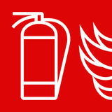 Brandblusapparaatteken Stock Afbeelding